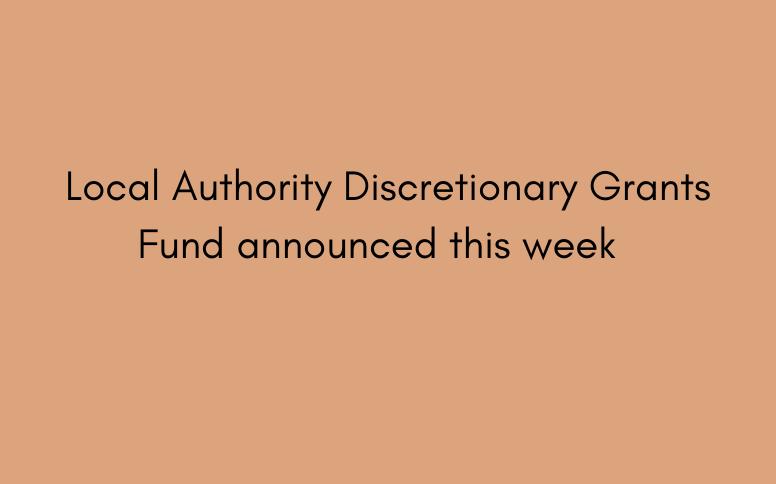 Local Authority Discretionary Grants Fund