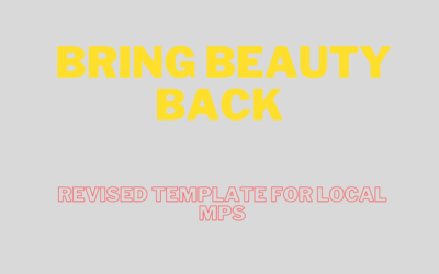 REVISED Template letter for local MP : Reopening of the Beauty, Spa and Wellness Industry