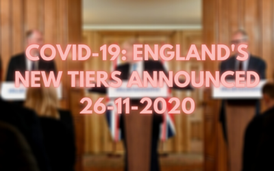 COVID-19: England's New Tiers Announced