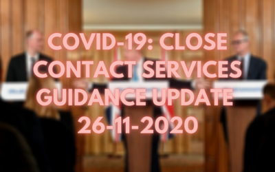 COVID-19: Close Contact Services Guidance Update
