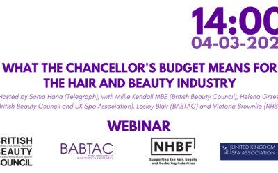 Webinar: What the Chancellor's Budget means for the Hair & Beauty Industry