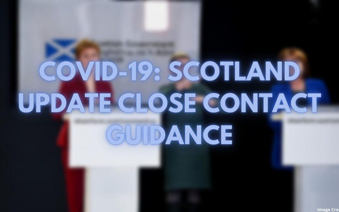 COVID-19: Scotland update close contact services guidance